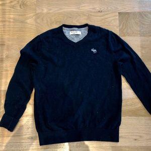 Abercrombie Kids Navy Blue V-Neck Sweater Sz 13/14